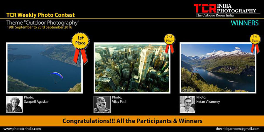 First Prize recognition on TCR - Theme 'Outdoor Photography'