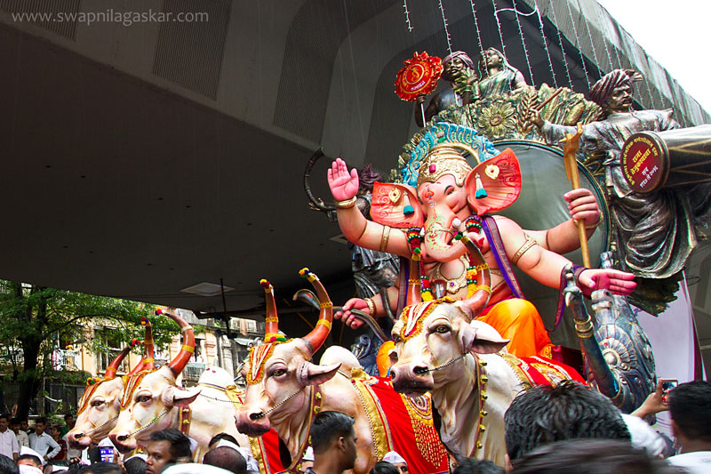 Tejukaya Ganesh Mandal, , during the Ganesh Visarjan ceremony