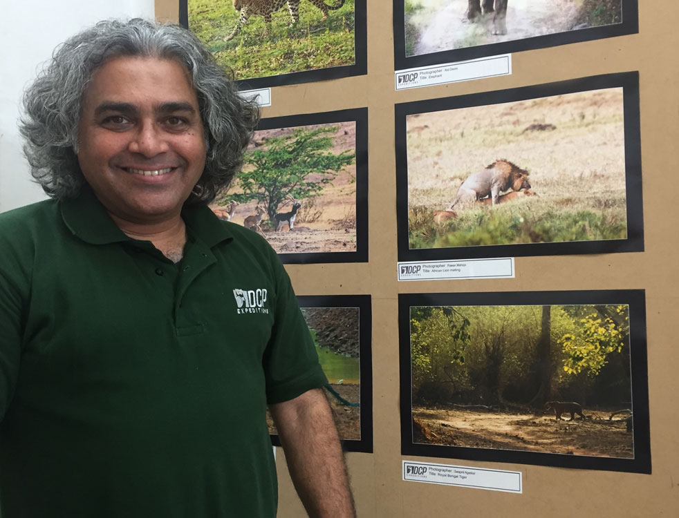 At the DCP Wildlife Photography Exhibition, Nashik